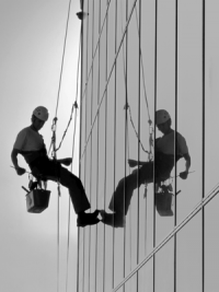 Close up of High Rise Window Cleaner