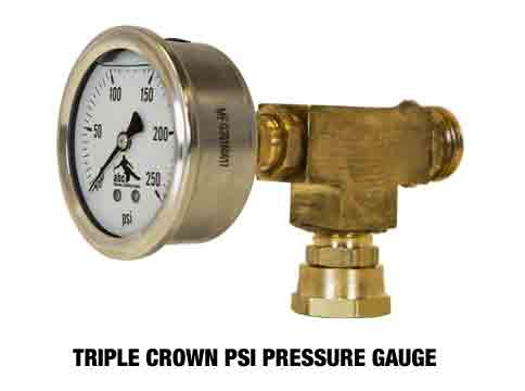 Triple Crown Pressure Gauge