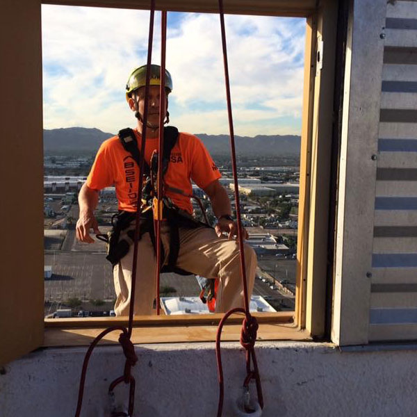 Todd, doing his high rise window cleaning thing!
